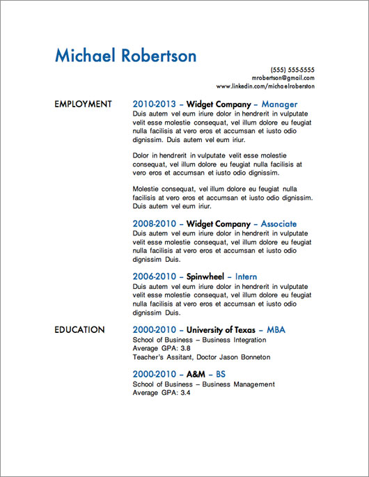 Cv Template Singapore Resume Examples