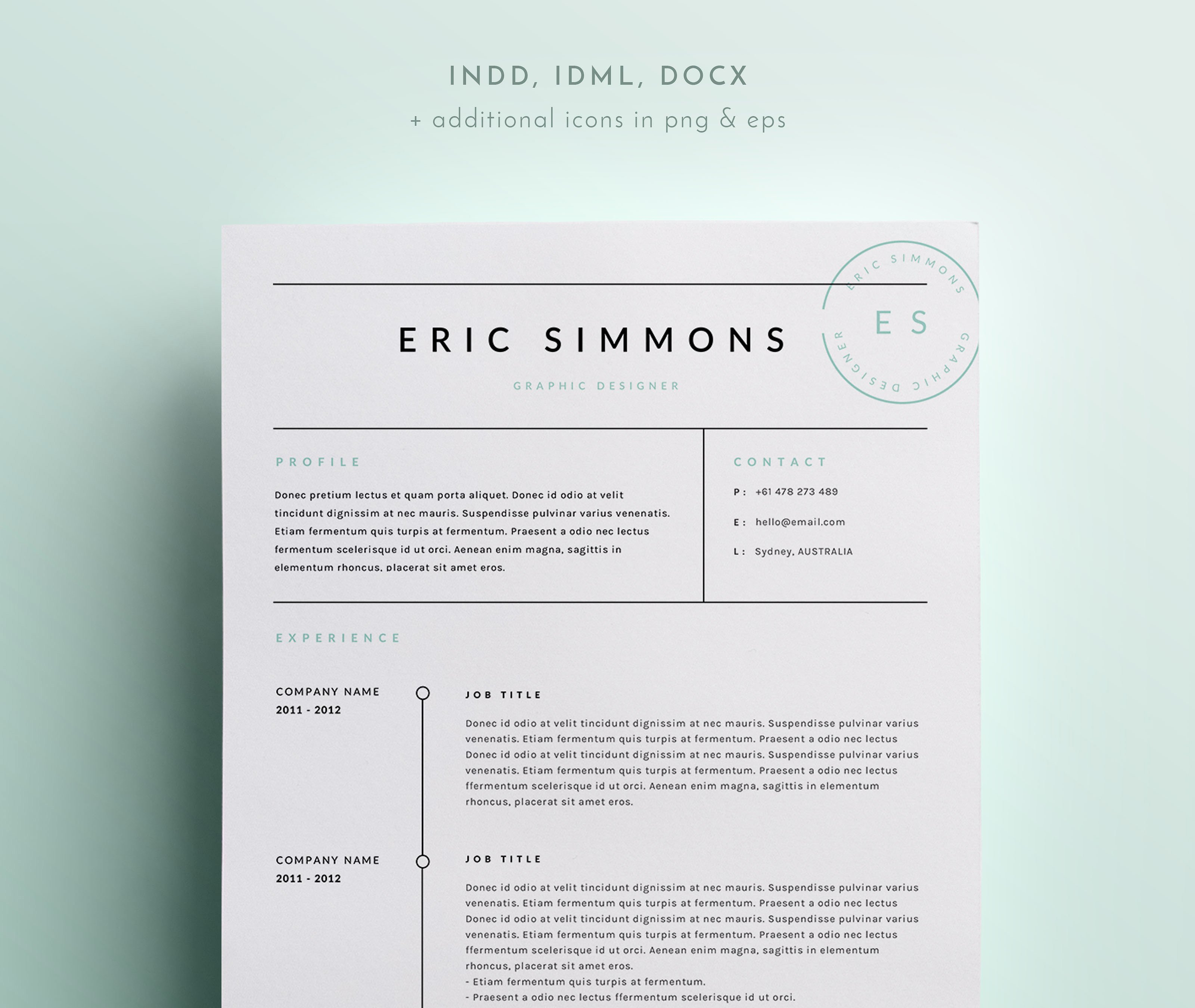 3 Page Cv Template