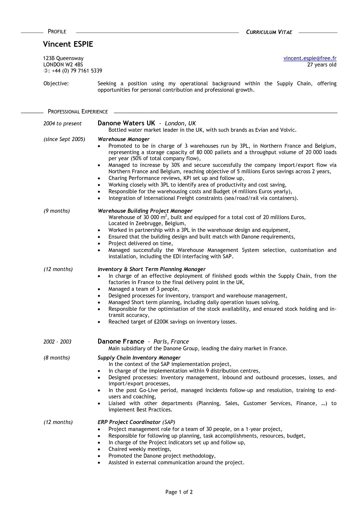 Resume Examples 16 Year Old