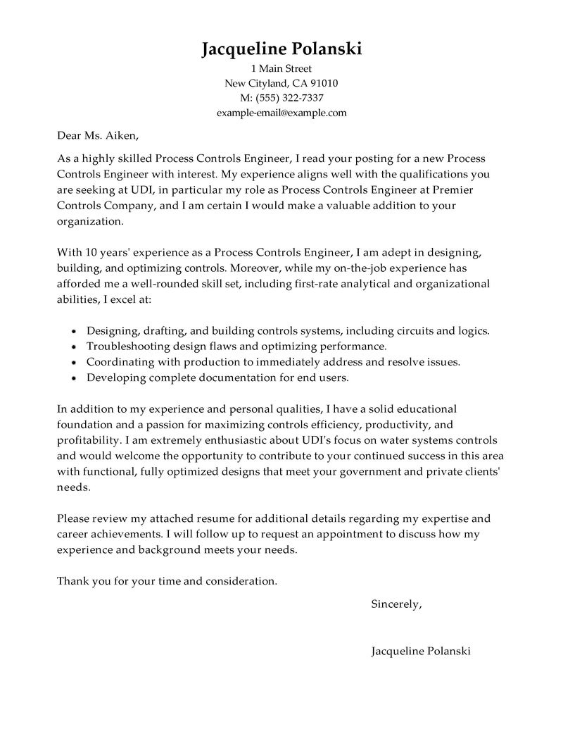 Cover Letter Template Government Job