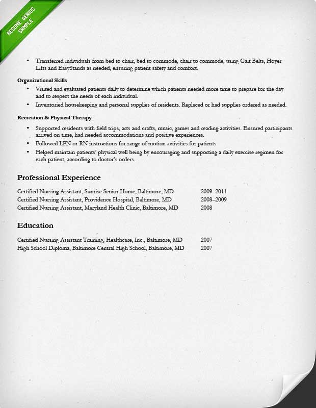 Resume Examples For Nurses - Resume Examples