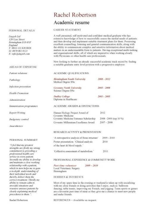 cv template for professor