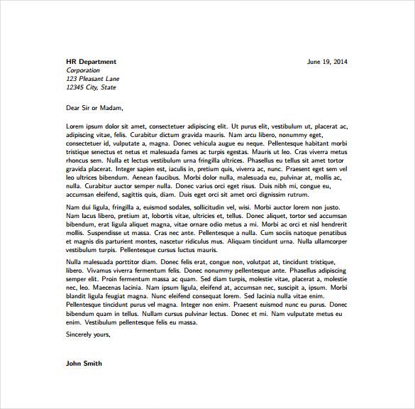 Modern Cover Letter Template 2016