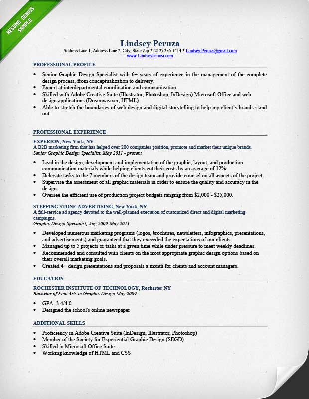 Resume Examples Graphic Design - Resume Examples
