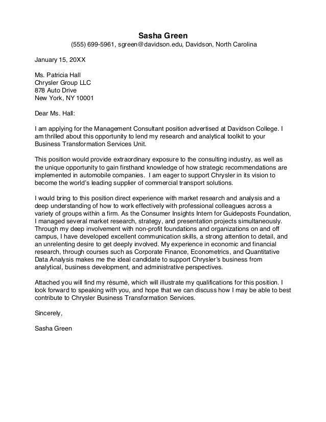 Cover Letter Template Guide