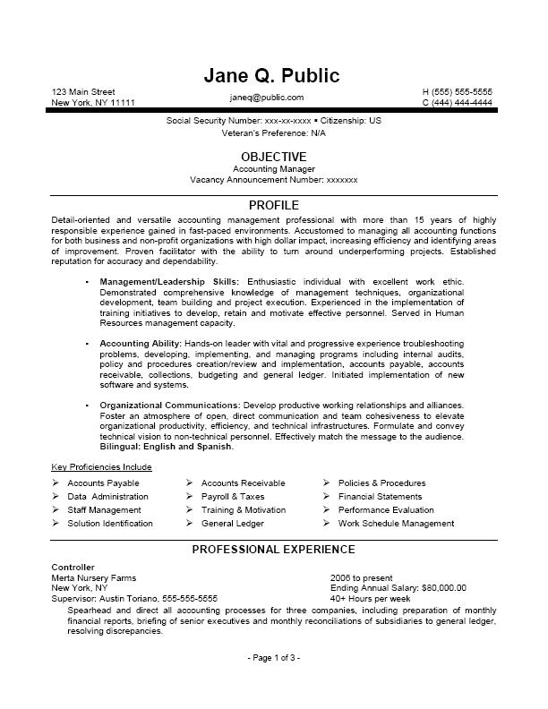 Free Resume Templates Federal Jobs Resume Examples