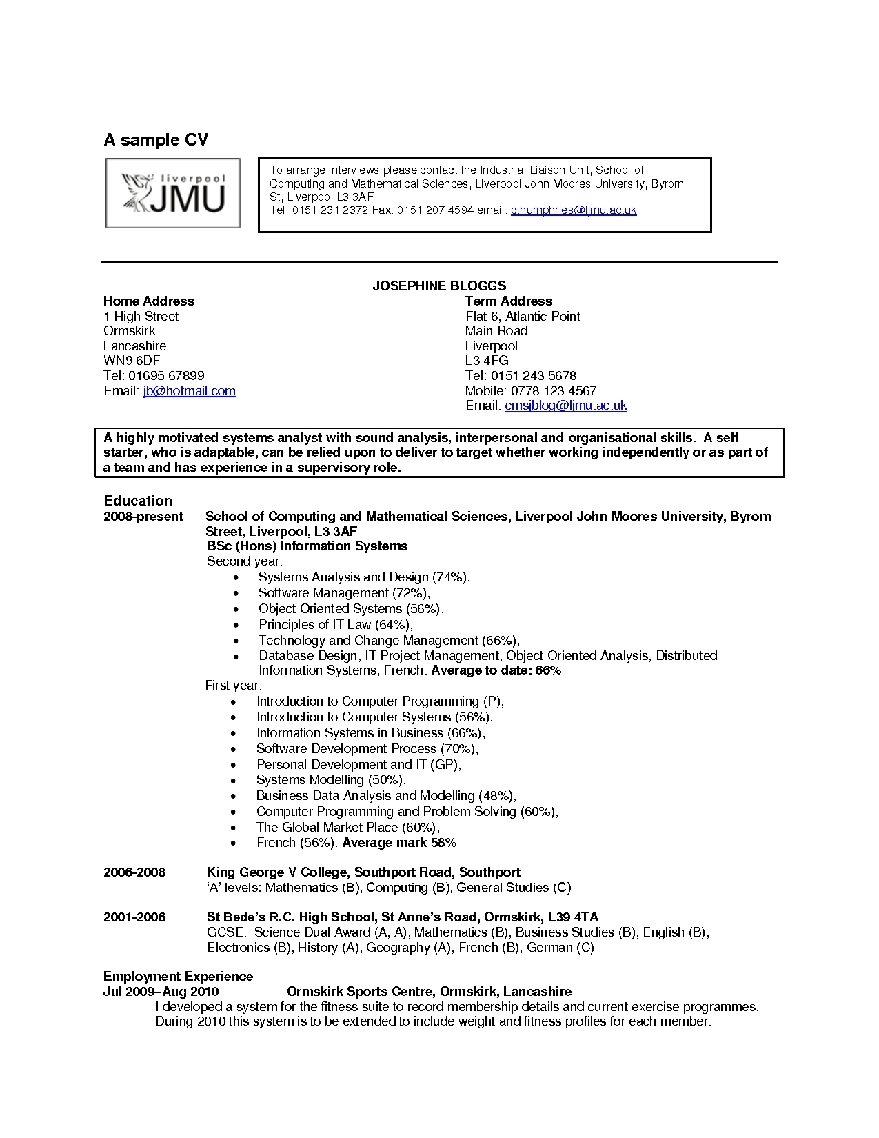 Resume Examples Hobbies
