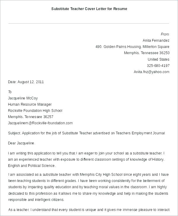 Cover Letter Template No Experience