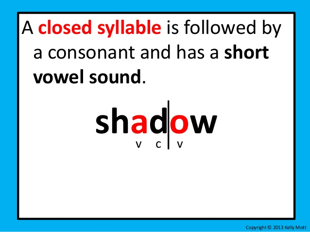 V Cv Pattern Divide Before The Consonant