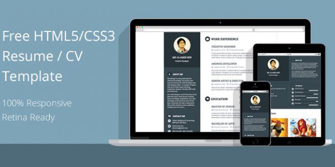 free resume template responsive