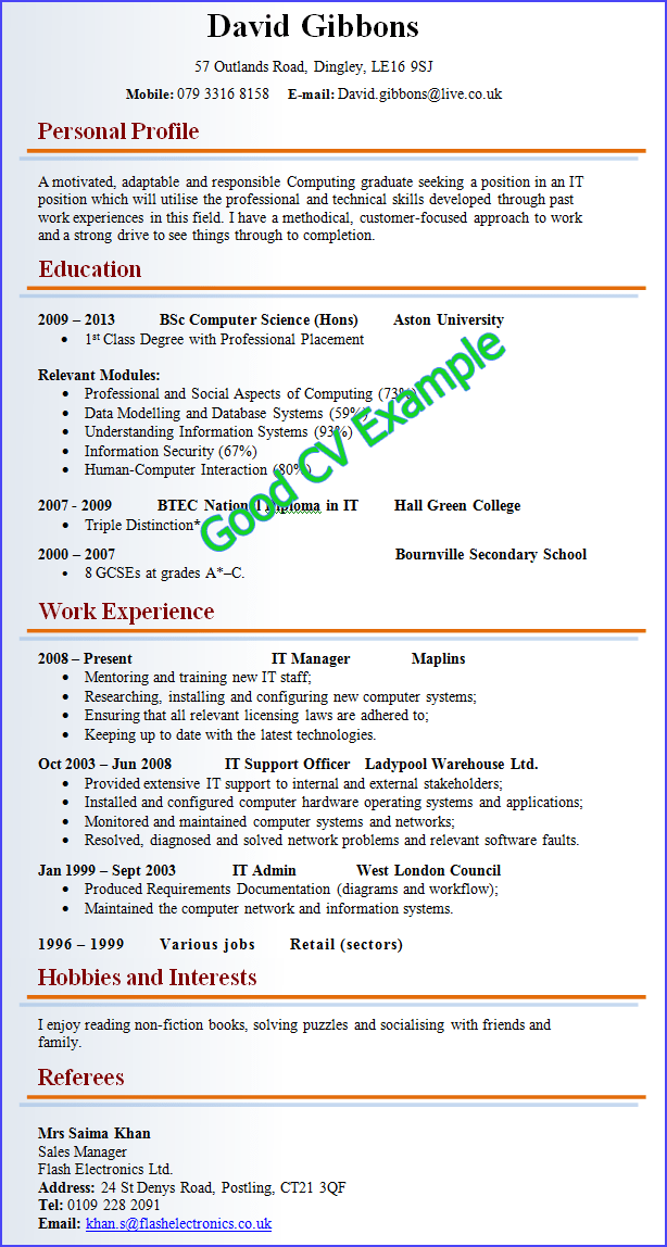 Resume Examples Good And Bad - Resume Examples
