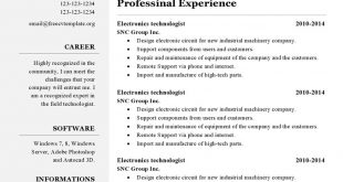 Free Resume Templates Libreoffice