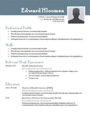 Cv Template Resume