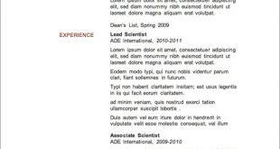 Free Resume Templates Nz
