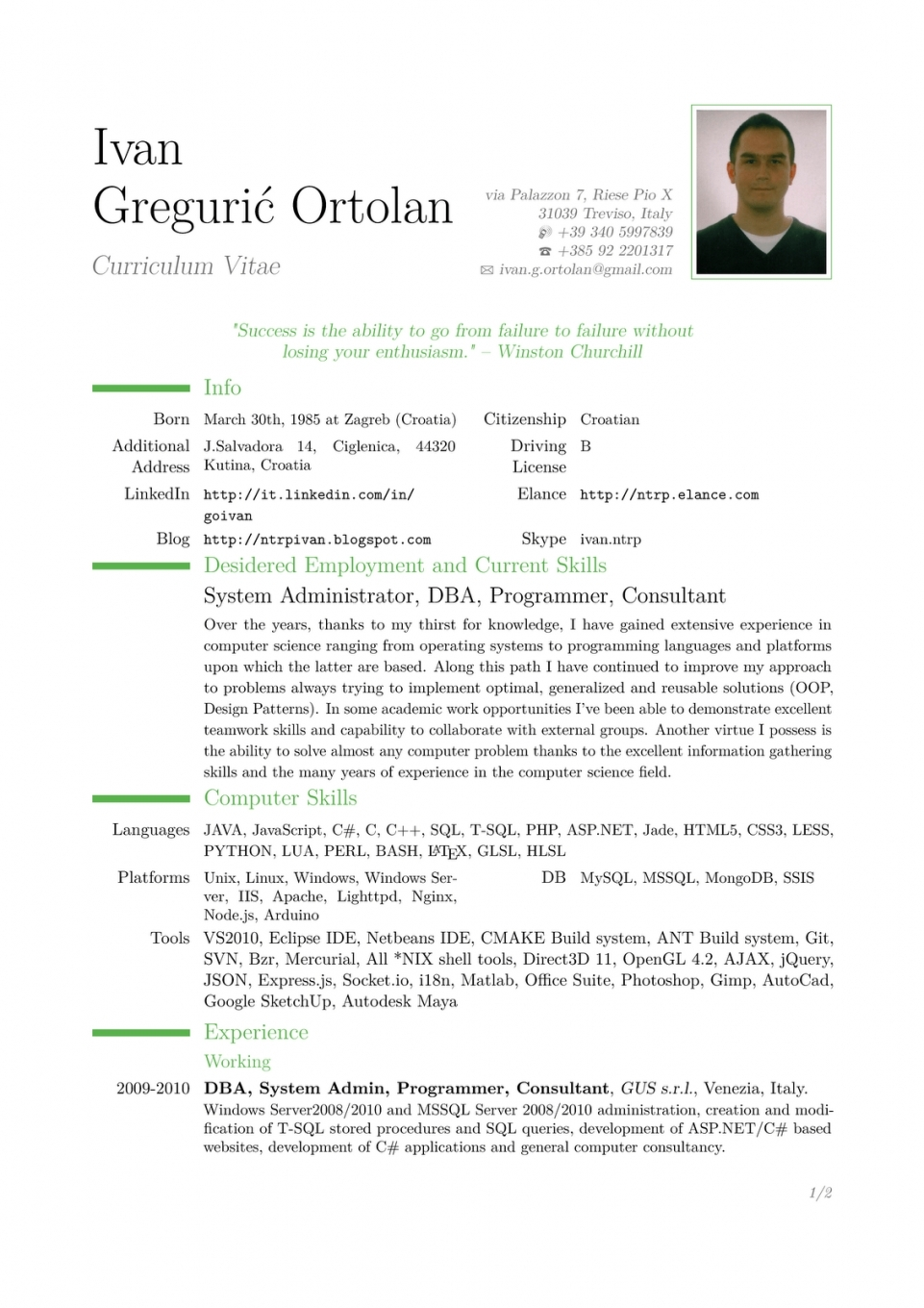 Cv Template Germany Resume Examples