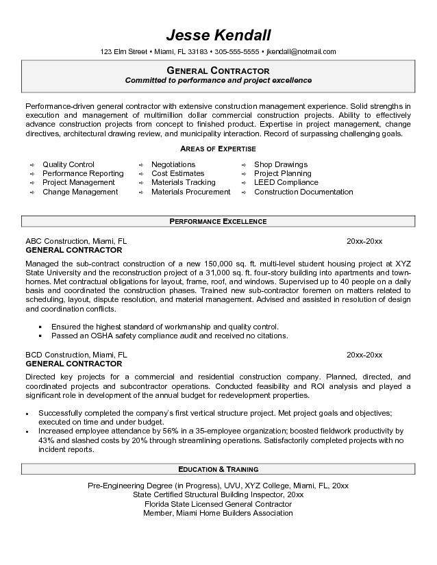 Resume Examples General