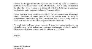 Cover Letter Template Uk No Experience