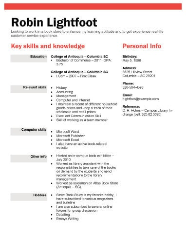 Resume Examples College Student - Resume Examples