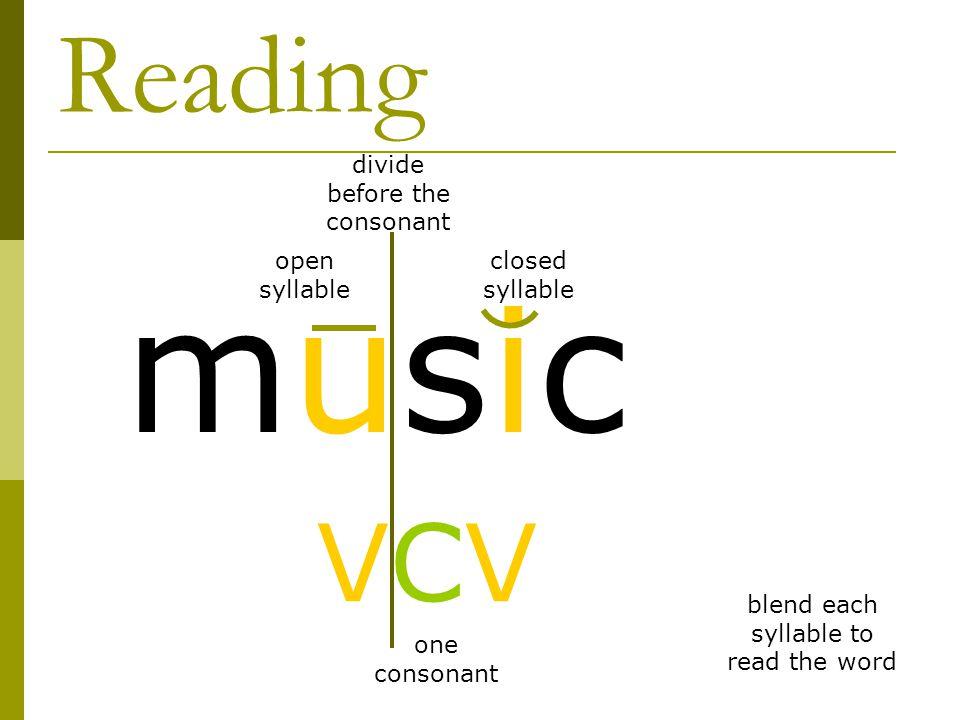 V Cv Pattern Divide Before The Consonant