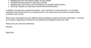 Cover Letter Template For Job