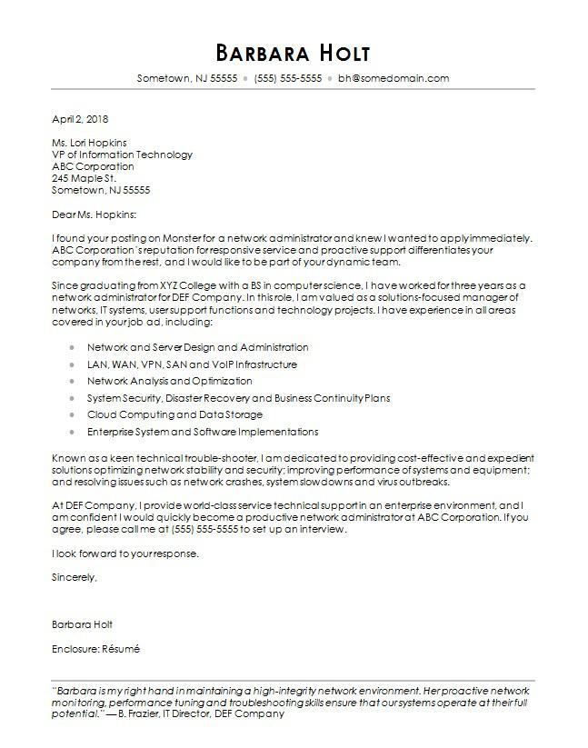 cover letter template 2018