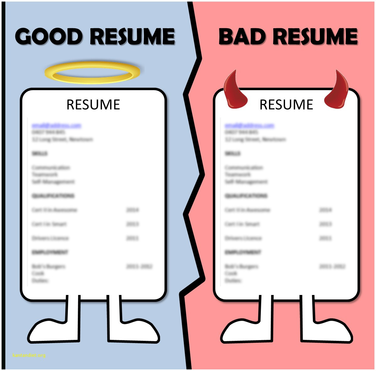 resume examples good and bad