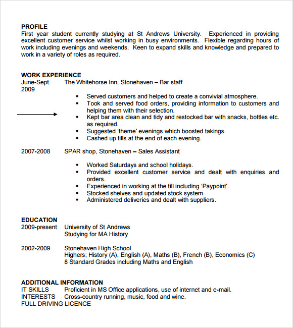 Free Resume Templates For Students