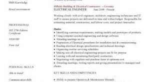 Cv Template Engineering