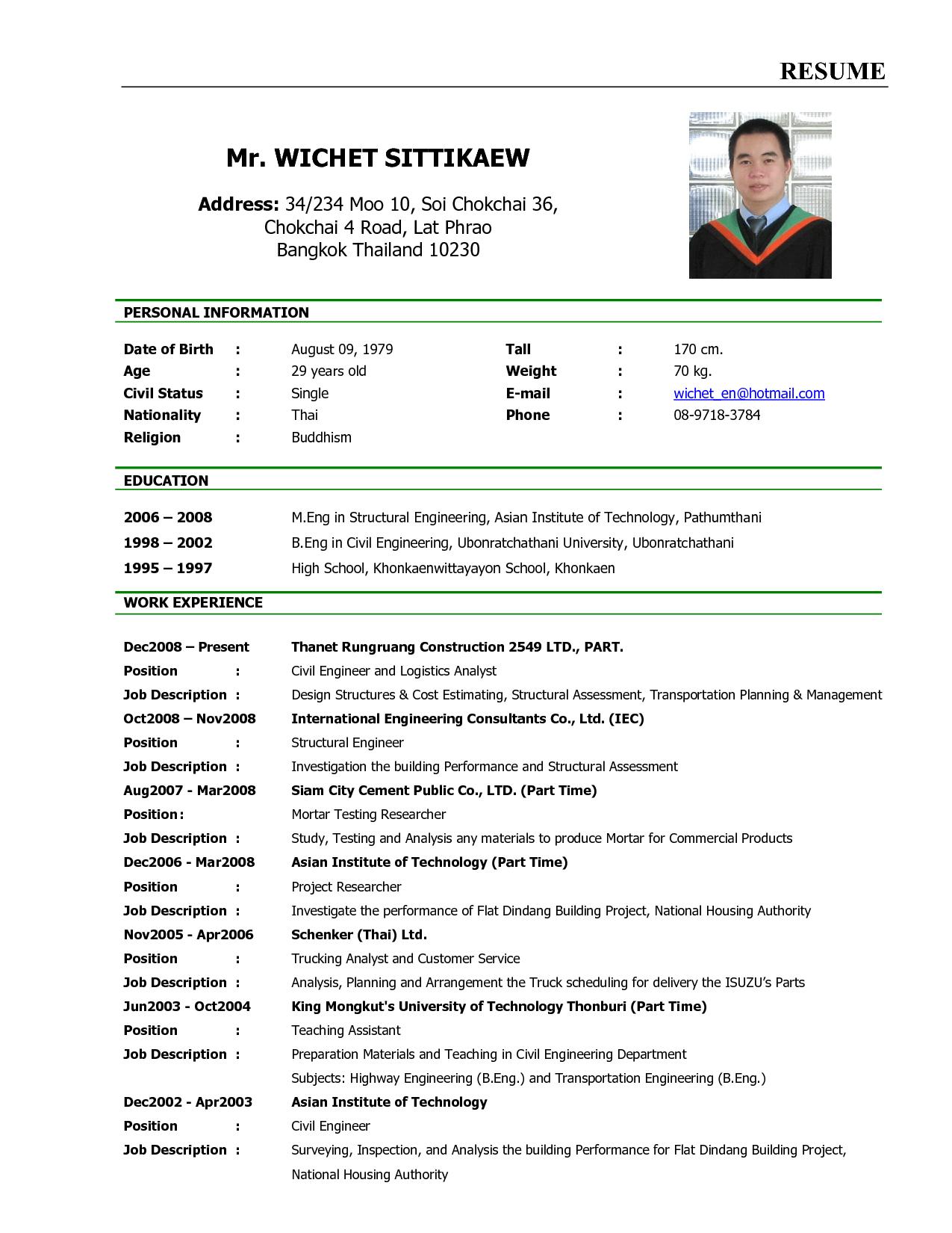 free resume templates malaysia