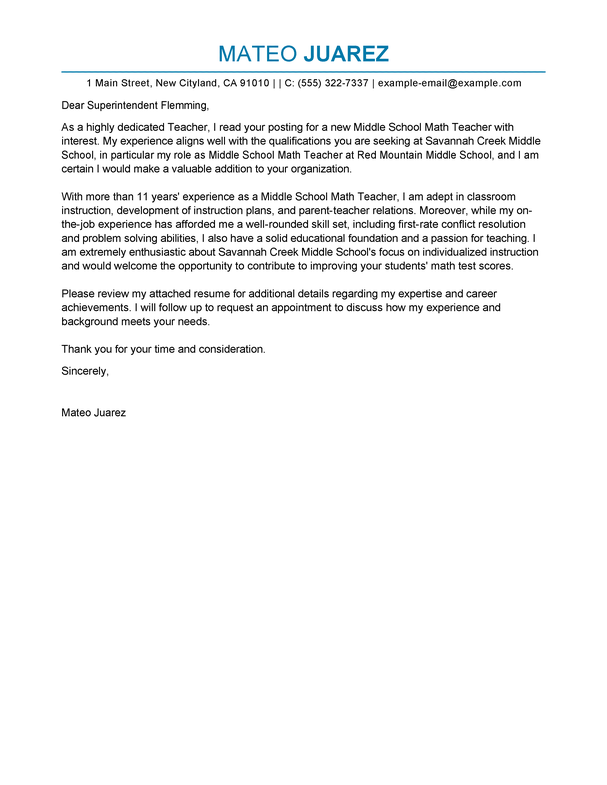 Cover Letter Template Education