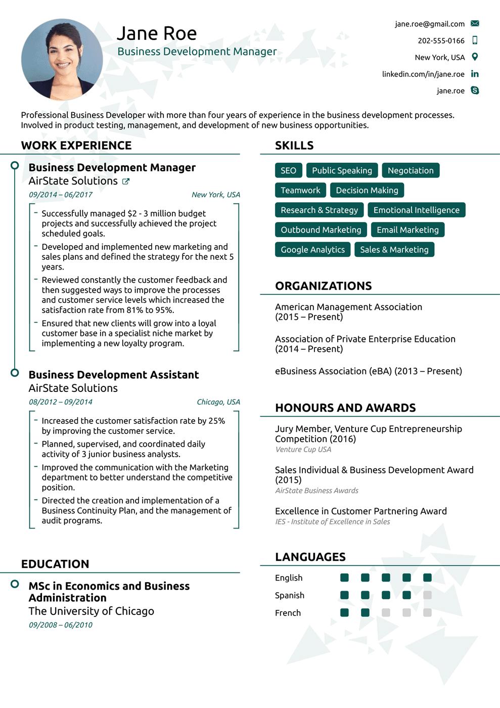 Free Resume Templates 2018