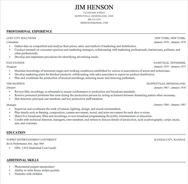 Free Resume Templates Linkedin