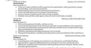 Resume Examples Restaurant