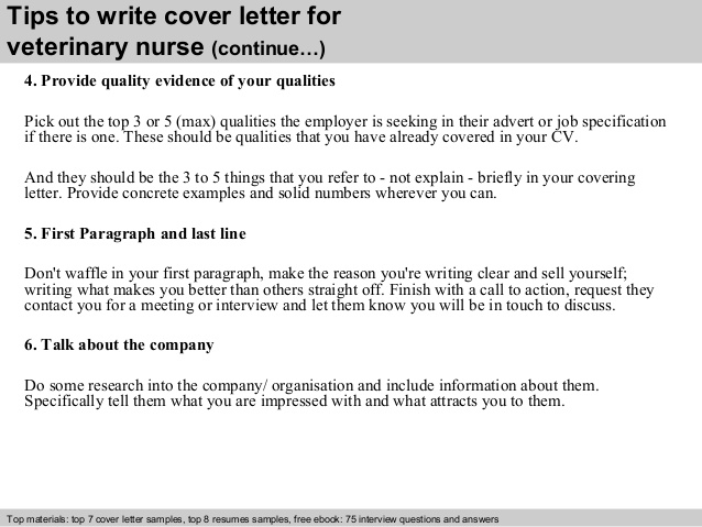 Cover Letter Template Vet Nurse - Resume Examples
