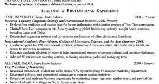 Resume Examples Of A College Student