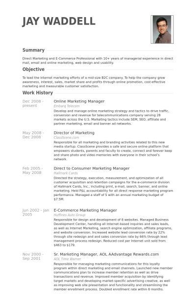 e commerce experience resume examples