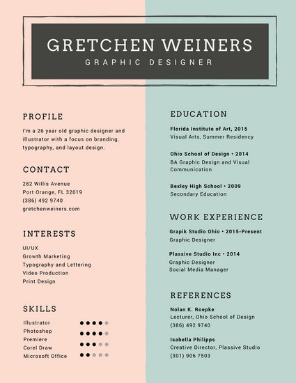 Free Resume Templates Canva - Resume Examples