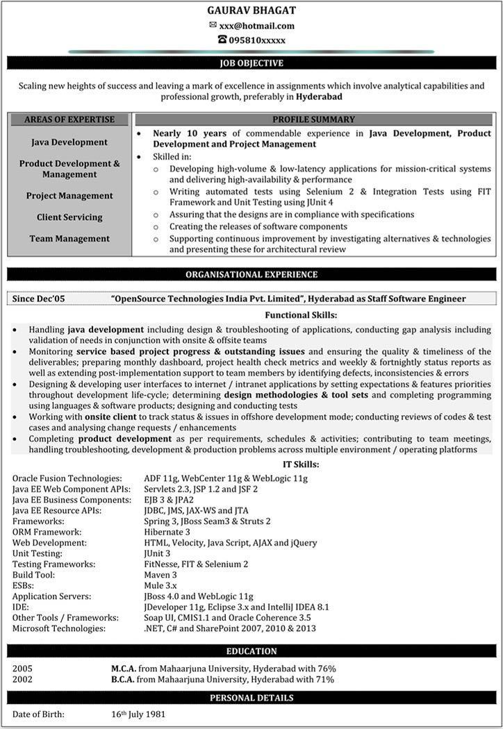 resume examples 2 years experience  resume examples