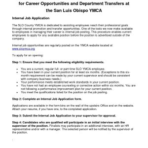 Cover Letter Template Ymca