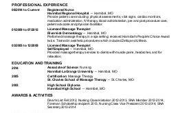 L D Nurse Resume Examples