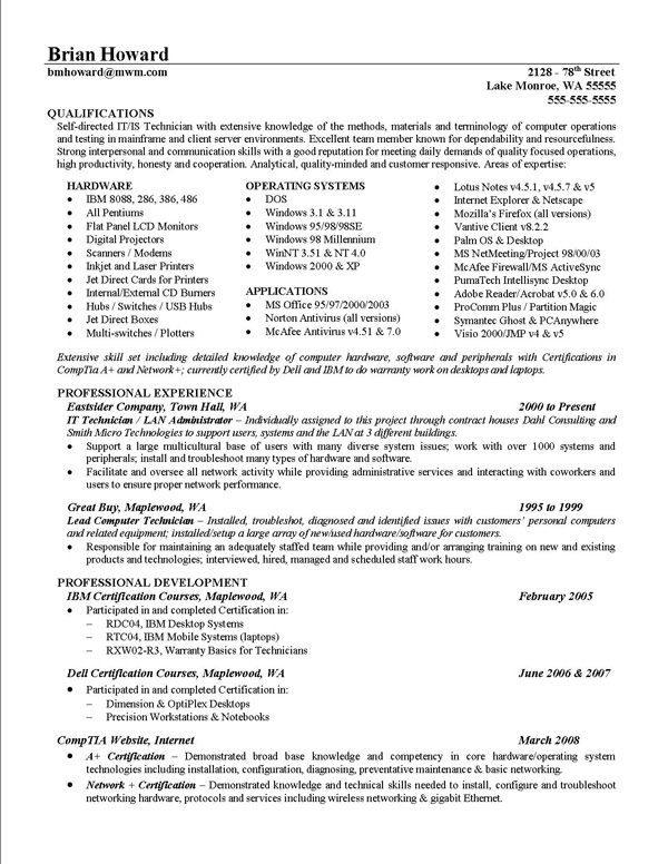 resume examples key strengths