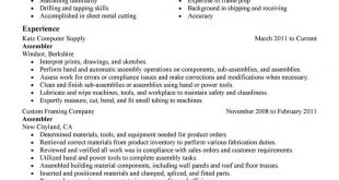 Resume Examples Manufacturing