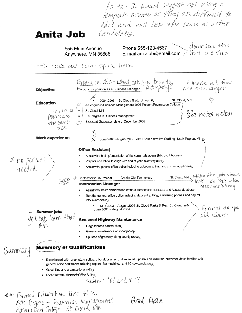 Resume Examples No College Resume Examples