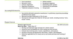 Resume Examples Lawyer