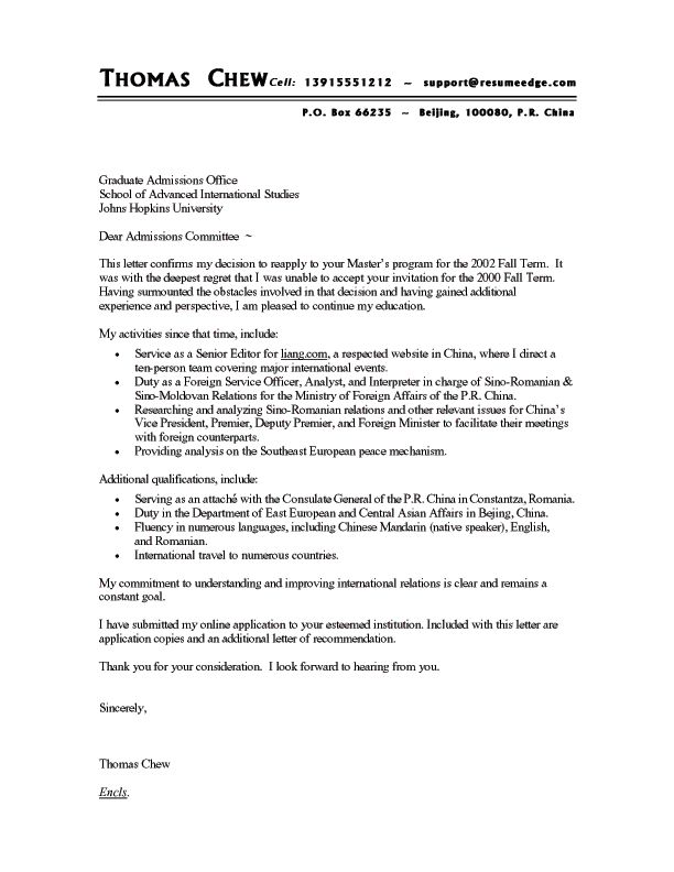 Cv With Cover Letter Template