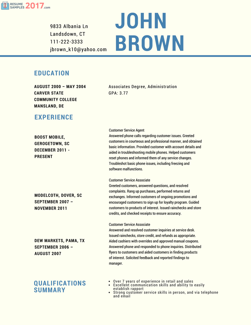 Resume Examples Uptowork