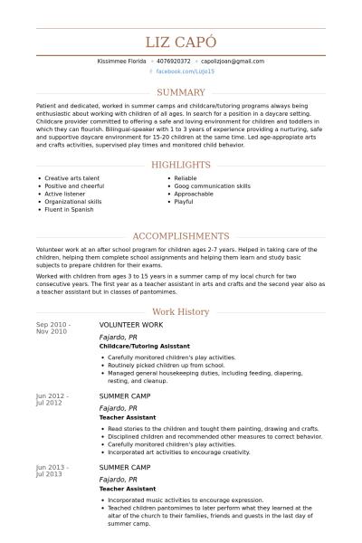 Free Resume Templates Volunteer Experience