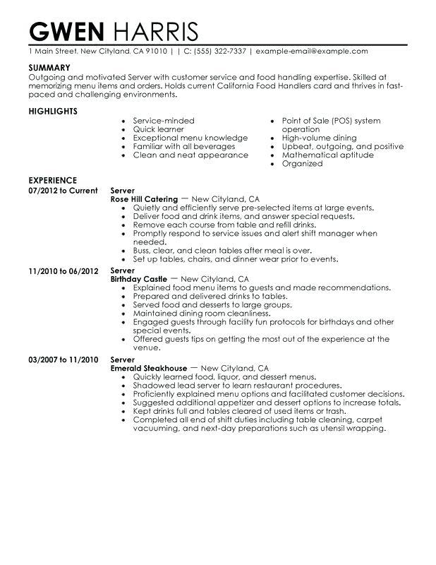f b resume examples
