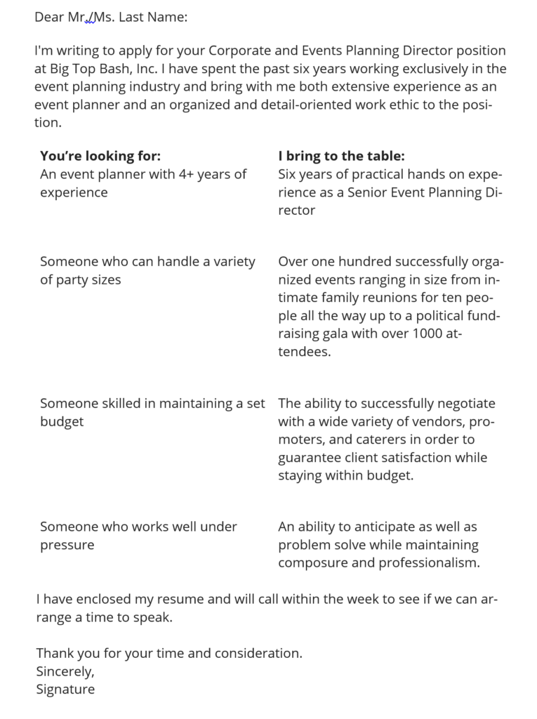 Cover Letter Template Professional