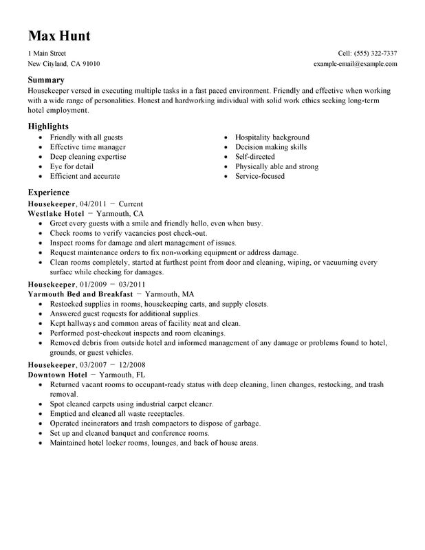 resume examples long term employment